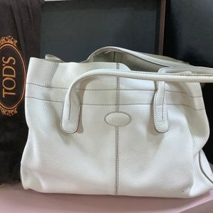 Tod's White Leather Handbag